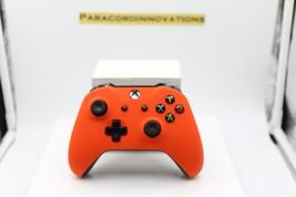 Xbox One/S/X 1708 Controller w/Soft Touch Orange Cover & Orange LED-Mod ... - $55.43