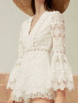 NEW 2018 Auth Alexis Caralyn lace romper in White $485 - $118.40+