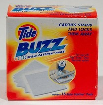 TIDE BUZZ ULTRASONIC STAIN CATCHER PADS 13 PADS STAIN REMOVAL - $5.04
