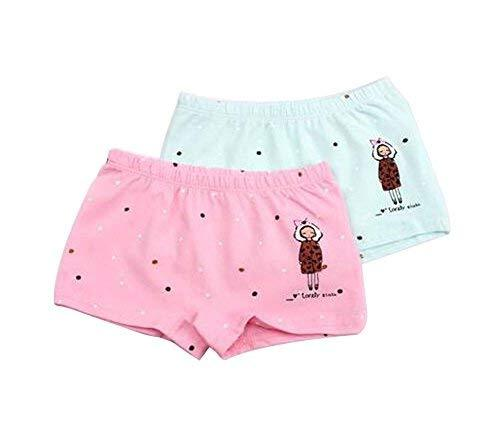 PANDA SUPERSTORE Set of 2 Cute Breathable Soft Baby Girls Underwear Panties, 2-3
