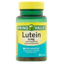 Spring Valley Lutein 6 mg with Zeaxanthin, Eye Health, 30 softgels - $12.94