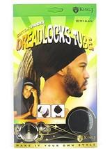 King.J Unisex Cotton Spandex Dreadlocks Tube Black - $4.63