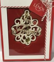 Lenox Friend Ornament Gift Charm NIB - $19.79