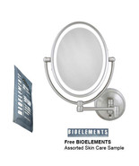 Zadro LEDOVLW410 LED Oval Wall Mounted Makeup Mirror w/ Free Bioelements... - $128.69
