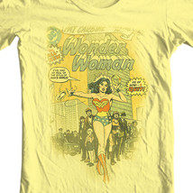 Wonder Woman T-shirt retro TV old style Silver Age free ship 100% cotton DCO368 image 1