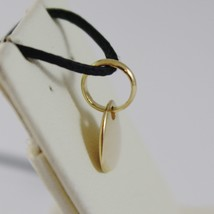 18K YELLOW GOLD MINI HEART CHARM PENDANT, 9 MM, FLAT SMOOTH SHINY MADE IN ITALY image 2