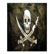 Shower Curtain Pirates Of The Caribbean Flag Skull Horror Scary Anime Fa... - $31.00+
