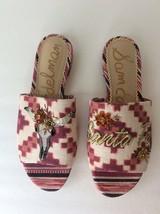 Sam Edelman Red Bling Open Toe Mule Sandals Slides Slip On Flats Womens Size 6 - $74.24