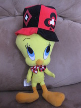 "LOONEY TUNES POKER DEALER TWEETY PRE-PRODUCTION SAMPLE Plush 10"" PROMO T... - $129.99"