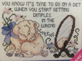 Stoney Creek Collection Pig Tales Eat Dessert First Counted Cross Stitch Kit New - $12.99