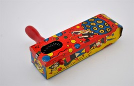 Vintage 1950 U.S. Metal Toy Mfg. Co.NY Party Noisemaker Tin Wood Spinner... - $11.88