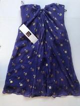 Nicole Miller Womens Silk Strapless Cocktail Formal Dress Sz 0 Purple NWT - $42.08