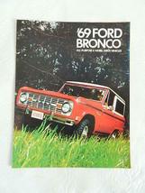 Vintage 1969 Ford Bronco Car Brochure - $29.99
