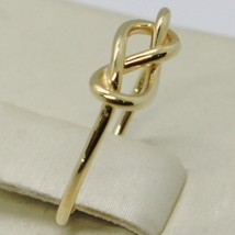 18K YELLOW GOLD INFINITE CENTRAL RING, INFINITY, SMOOTH, BRIGHT, MADE IN ITALY image 2