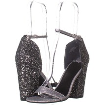 Guess Bambam3 Ankle Strap Sandals 365, Silver Multi, 7 US - $30.71