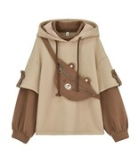Kawaii Clothing Bear Hoodie Sweatshirt Fanny Pack Bag Ears Teddy Harajuku Korean - $29.95