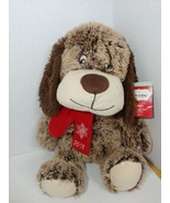 Pet Smart Chance 2016 brown Squeaker Plush Puppy Dog Luv a Pet red scarf - $7.91