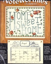 Bucilla Home Sweet Home Calendar Kit Cross Stitch Kit 41707 Alma Lynne - $24.95