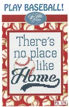 Play Baseball Post Stitches cross stitch chart Sue Hillis Design - $5.40