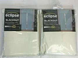 """Eclipse Kendall Ivory Blackout Curtains, Thermaback Lot Of 2, 42""""X 84""""  ... - $29.69"""