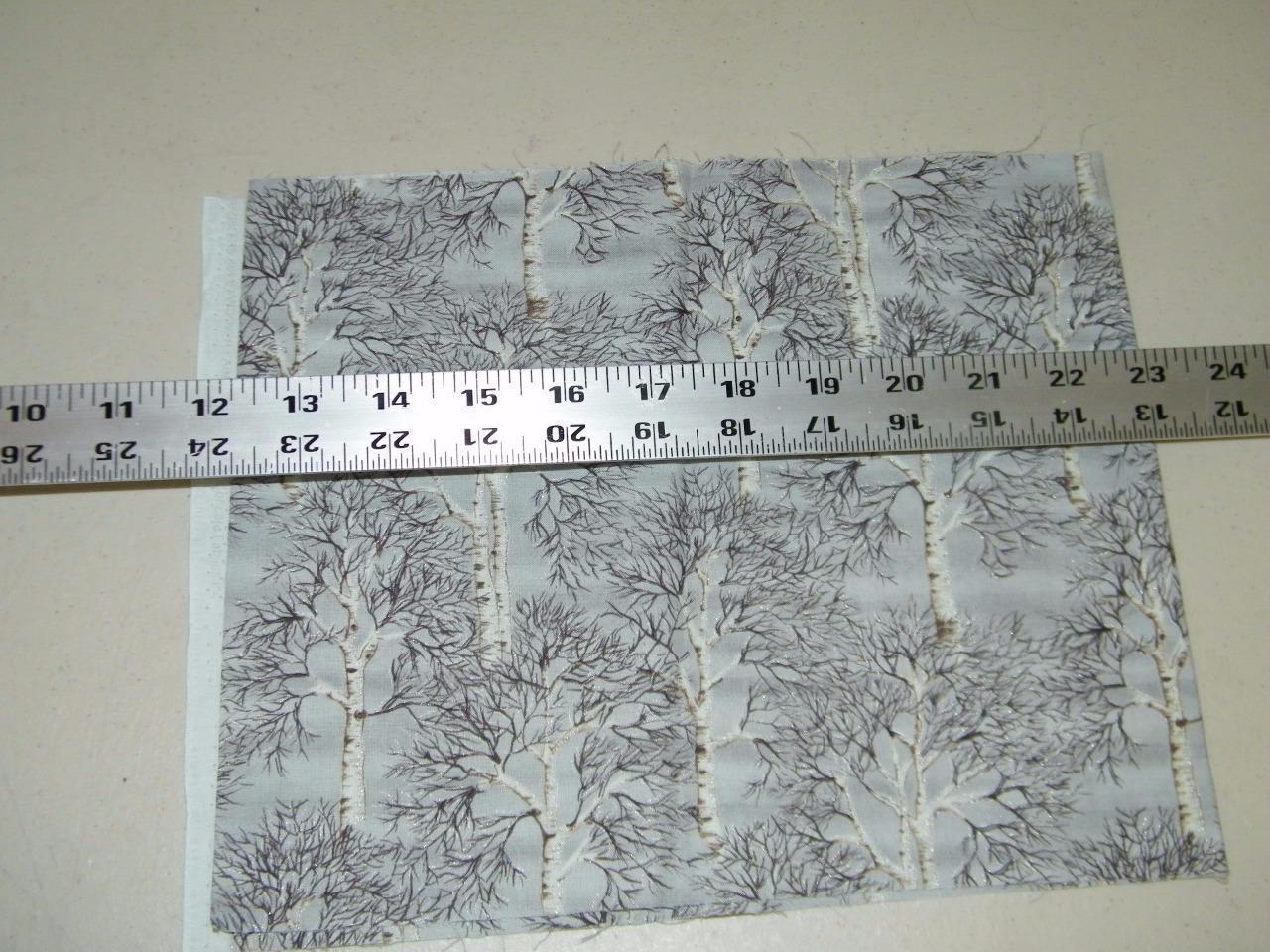 Gail Kessler Andover Fabrics Winter Trees Metallic Quilting Fabric 1/4 Yd 13900