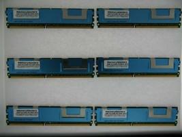 24GB 6x4GB Memoria PC2-5300 ECC Fb-Dimm Dell PowerEdge 1950 III Server