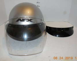 AFX FX-70 Silver Half BIKE Motorcycle Cruiser Helmet Adult Small DOT Approved - $45.59
