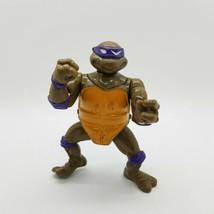 Vintage TMNT Ninja Turtles 1991 Head Droppin' Donatello Figure Loose E8 - $9.49