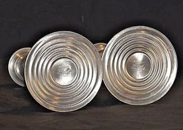 Candlestick Holders Leonard Genuine AA18 - 1040 Vintage Pair of Vintage Pewter image 4