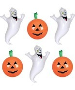 Inflatable Halloween Decorations Set - 3 Pumpkin Inflates + 3 Ghost Infl... - $31.12