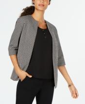 Anne Klein Jacquard Blazer Color Black/White Size 4 - $25.99