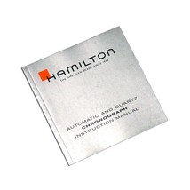 Hamilton Watch Automatic Quartz Chronograph Instruction Manual Silver Bo... - $19.00