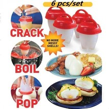 Silicone Egglettes Egg Cooker Hard Boiled Eggs without the Shell For Egg... - $36.44 CAD