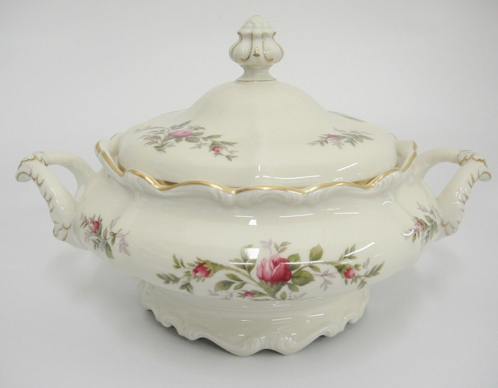 Primary image for Rosenthal Antoinette Moss Rose Covered Vegetable Dish Pompadour Shape Mint Cond