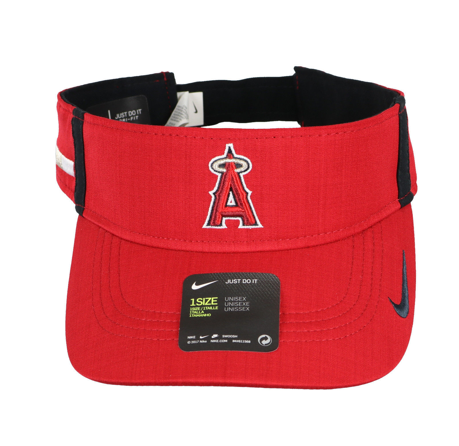 NIKE Anaheim Angels AeroBill Vapor Visor One Size Red Hat Cap MLB Los  Angeles cabb099249d