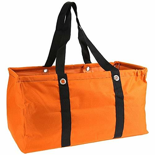"Large 22"" Utility Market Tote Bag Trunk Organizer (Orange)"