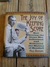 The Joy Of Keeping Score By Paul Dickson Baseball History Book - $14.01