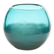 Small Aqua Fish Bowl Vase - $40.60