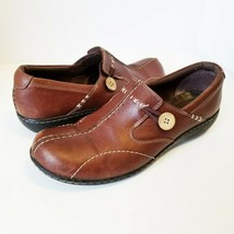 Clarks 35063 Bendables Sixty Delta Split Toe Brown Loafers Womens Size 9M - $37.07