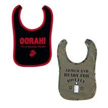 Baby Boys Bib Set 2 P. USMC Oorah Military Marine Corps - $16.62