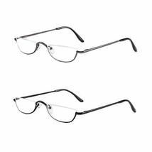 KoKoBin Half Reading Glasses - 2 Pairs Half Rim Metal Frame Glasses Spri... - $14.42