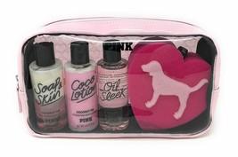 Victoria's Secret PINK Coconut Oil 5 pc Gift Set - Wash Lotion Oil Spong... - $17.77