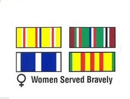 VIETNAM WOMEN SERVED BRAVELY MILITARY  BUMPER STICKER DECAL - $13.53