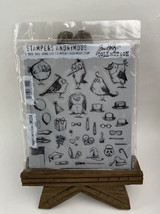 Tim Holtz Cling Rubber Stamps MINI BIRD CRAZY & THINGS CMS 250 - $19.75