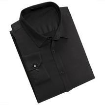 Men's Classic Fit Long Sleeve Button Down Black Lightweight Dress Shirt - XL