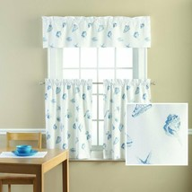 Mainstays Seashell Toss Printed Valance and Kitchen Curtains 3 Piece - $18.80