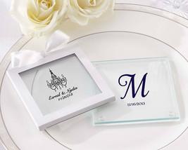 Personalized Glass Coasters Birthday Baby Baptism Holiday Bridal Wedding... - $126.34+