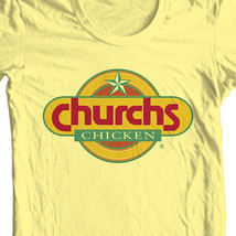 Churchs Fried Chicken T-shirt retro vintage fast food 100% cotton yellow image 2