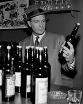 Robert Stack In The Untouchables In Bar Holding Whisky Bottles 16X20 Canvas Gicl - $69.99