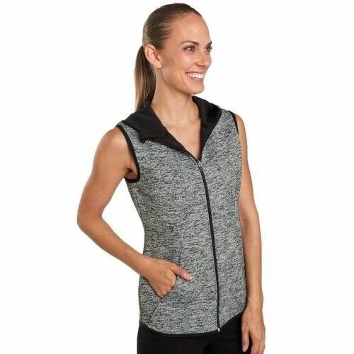 Medium Jockey Women's Core Warmer Vest Hooded Full Zipdown Off-White NEW